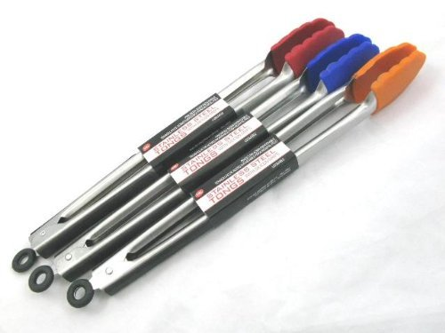 Stainless Steel Tong With Silicon Grip End 35cm (KA0079)