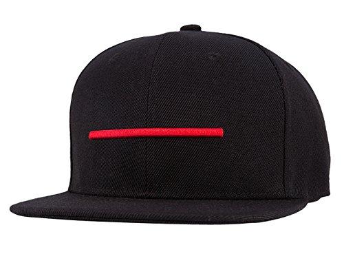 7ab7285f07783 Wuke Snapback Gorra de Beisbol Hombre Clásico con Pico Plano Rojo Ajustable  con Helillas Danza Negro