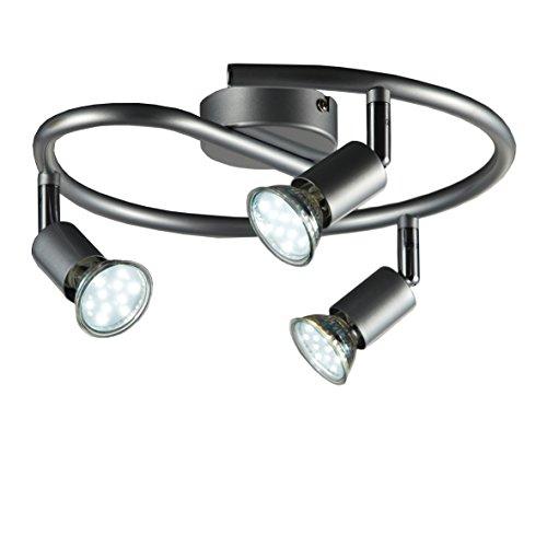 LED Deckenleuchte Schwenkbar Inkl. 3 x 3W Leuchtmittel 230V GU10 IP20 LED Deckenla...
