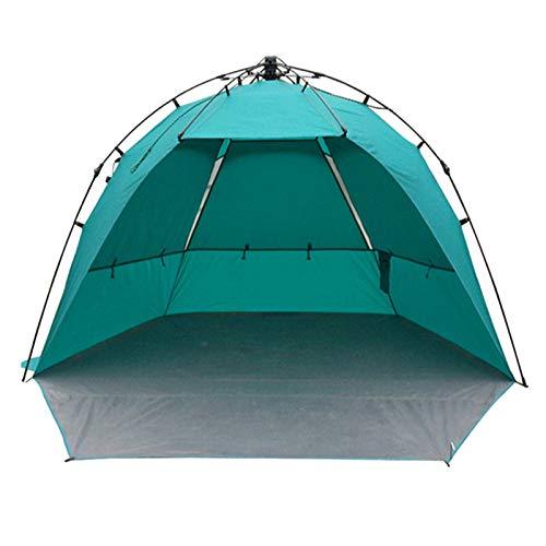 CBWZDJZDS Automatische Strandzelt Picknick Im Freien Zelt Strand Schatten Dressing Blau Doppelt 95 + 150X240X150Cm