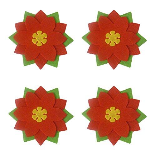 SM SunniMix 4 Stü Ostern Blumen Besteckhalter Taschen Ostern Dekoration Besteck Kostüm Kleine Kleidung Besteck Set
