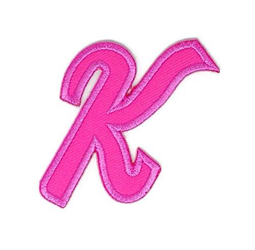 Rose & bestickt Aufnäher zum Aufbügeln/Aufnähen, bestickt, zum Aufbügeln, englisches Alphabet, Baby, Kinder, Mädchen, Frauen, DIY-Zubehör (Rosen-jeans-rock Englische)