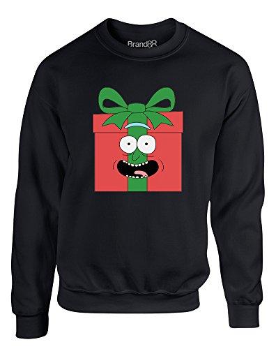 I Turned Myself Into A Present!, Kinder Gedrucktes Sweatshirt - Schwarz 3-4 Jahre