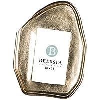 Belssia Portafotos Piedra Dorado 20x26x2 cm