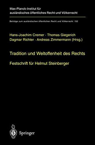 Tradition Und Weltoffenheit Des Rechts: ...