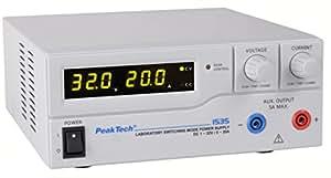 Peak Tech High Power/Appareil à haute Alimentation de laboratoire d'alimentation–DC 1–32V/0–20A analogique avec télécommande, 1pièce, P 1535