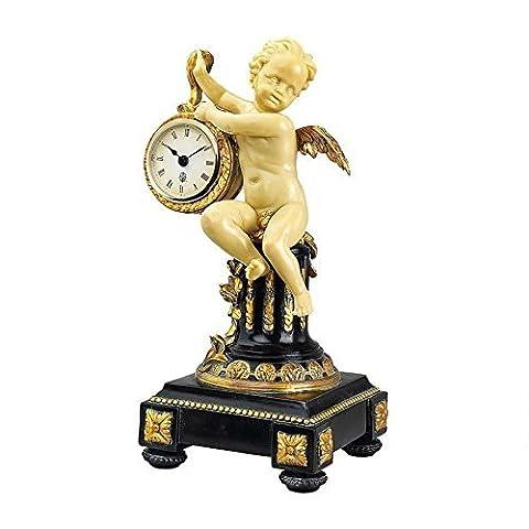 Design Toscano Chateau Colville Neoclassical Cherub Table Clock by Design Toscano