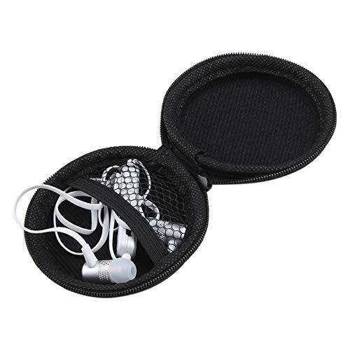 Colorful Tragetasche für Ohrhörer, kopfhörer Tasche Schutztasche Mini Zipper Praktische Tragetasche für In-Ear Kopfhörer Ohrhörer SD-Karte (Schwarz) thumbnail