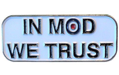 World of MOD IN MOD WE TRUST Target Roundel Scooterist Metal Enamel 30mm Badge
