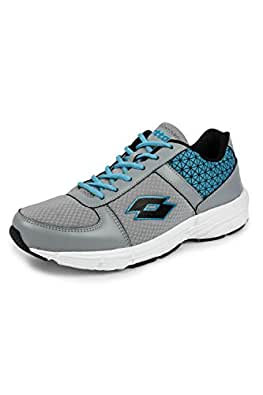 LOTTO Men Rosso Grey/Acqua Blue RUNNING Shoes 11 UK/India