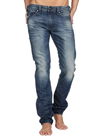 Diesel - Bleu Thavar Slim Jeans - Homme - Taille: W36-L34
