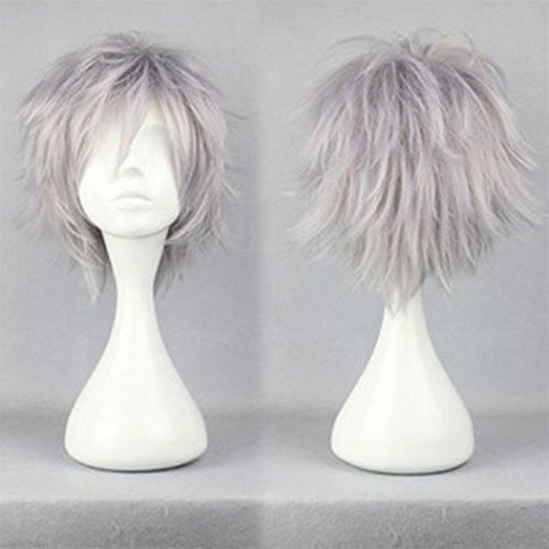 Peluca unisex de pelo corto y liso, peluca completa...