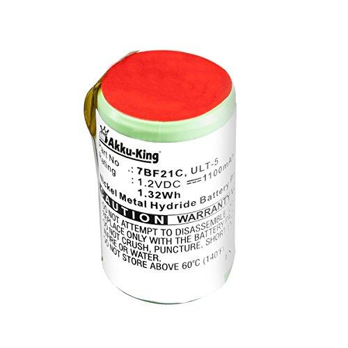 Akku-King Akku kompatibel zu Braun 2500, 3000, 3510, 3550, 5556 - ersetzt ULT-5, ULT-7, ULT-9 - Ni-MH 1100mAh
