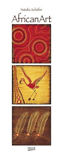 AfricanArt 2018: Kunstkalender mit Triplets in den warmen Farben Afrikas. Wandkalender der Künstlerin Natalia Schäfer im Hochformat: 28,5 x 69 cm, Folienveredelung