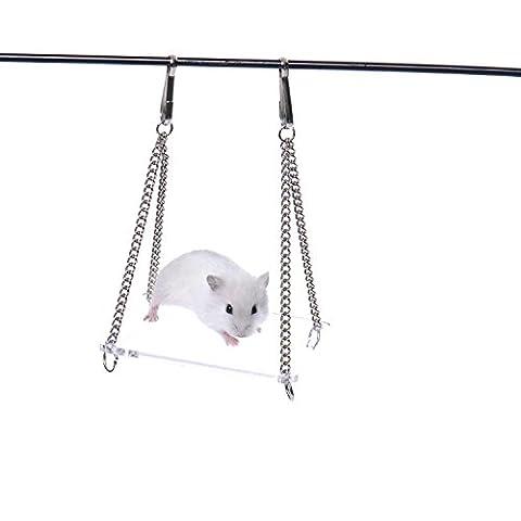 En Acrylique Transparent Nettoyer Swing à suspendre pour hamster maison Pont Suspendu Jouet pour Petit Animal