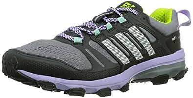 adidas Supernova Riot 6 W, Chaussures de trail femme - Gris (Tech Grey F12/Running White/Glow Purple S14), 36 EU