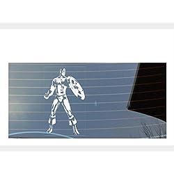 SHAWPRINT adhesivo para las ventanas del coche con diseño de los Vengadores de Marbel, Capitán América, en color blanco