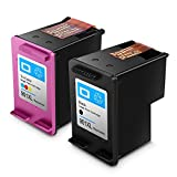 Remanufactured HP 901XL 901 Druckerpatronen, Hohe Kapazität, kompatibel mit HP OfficeJet J4500/J4560/J4500/J4500/J4524/J4535/J4540/J4580/J4624 /J4660/J4680/G510a/G510g/G510 n (1Schwarz+1Tri-Farbe)