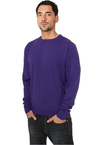 Urban Classics TB402 Knitted Crewneck Felpa Girocollo Uomo Regular Fit (Purple, S)