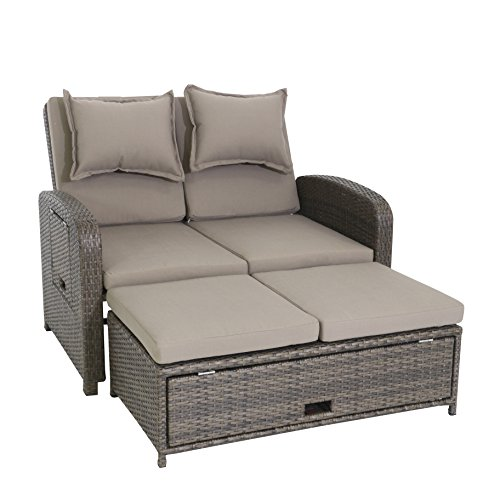 greemotion Rattan-Lounge Bahia Rondo, Sofa & Bett aus Polyrattan, indoor & outdoor, 2er Garten-Sofa...
