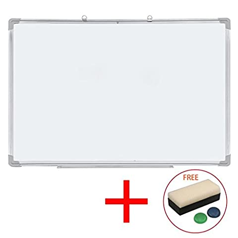 Drywipe Magnetic Whiteboard with Aluminium Frame and Pen Tray Office Notice Memo White Board