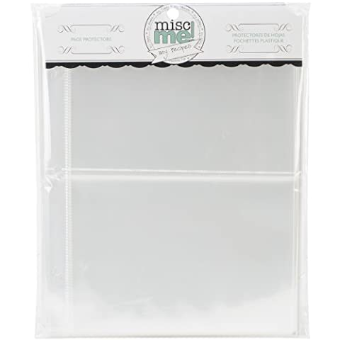 BoBunny 8 x 9-inch 40-Piece Misc Me Recipe Page Protector
