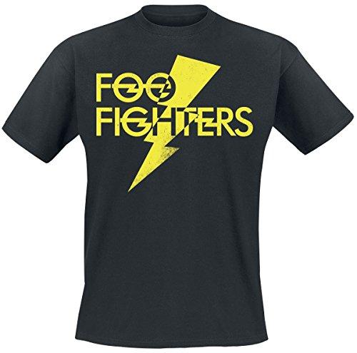 Foo fighters thunderbolt logo t-shirt nero xl