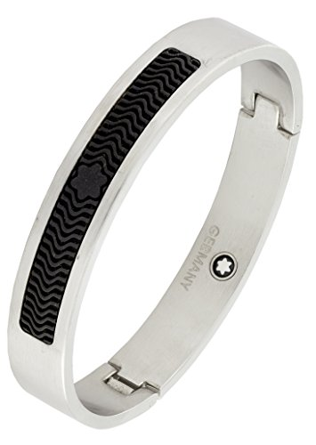 German Luxury Designer Silver Black 316L Surgical Stainless Steel Kada Bangle Bracelet For Men  available at amazon for Rs.1084