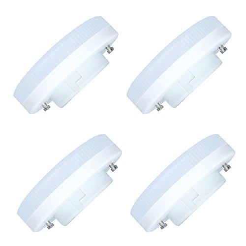 4-Pack 9W GX53 LED bombilla Regulable Caliente blanco 3000K CFL reemplazo GX53 LED disco bombilla para debajo del gabinete de cocina, armario, armario, iluminación del escaparate