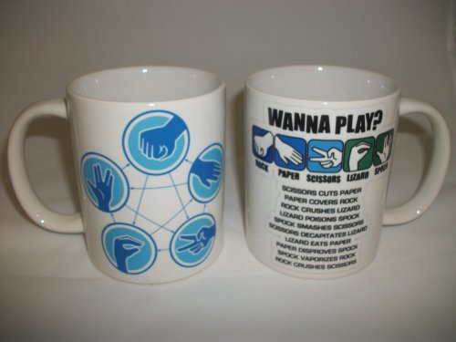 Wanna Play Stein Schere Papier Echse Spock Ceramic Mug Becher