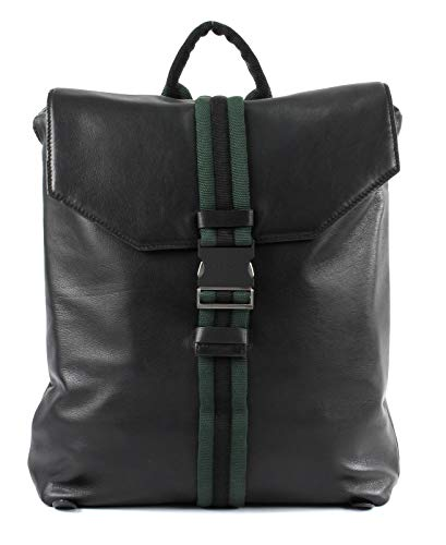 Liebeskind Berlin Damen Soft Messenger Backpack Medium Rucksackhandtasche, Schwarz (Black), 11.0x36.0x33.0 cm