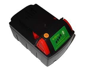 vhbw Li-Ion Batterie 4000mAh (18V) pour outils AEG / Milwaukee 4933416345, C12-28 DCR, C18 DD, C18 HZ, C18 ID comme 48-11-1815N, B41A, M18