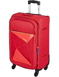 Safari Prisma 65 Cms Polyester Red Check-In 4 wheels Soft Suitcase - 25.6 Inches