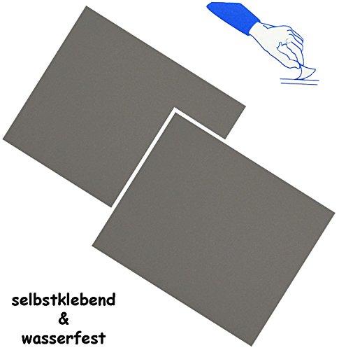 alles-meine.de GmbH 2 Stück _ Selbstklebende Reparatur Aufkleber - Nylon -  dunkel grau  - wasse..