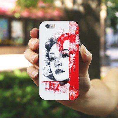 Apple iPhone X Silikon Hülle Case Schutzhülle Zarah Leander Zeichnung Frau Silikon Case schwarz / weiß