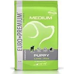 Euro Premium Nourriture pour chien Medium Puppy Lamb & Rice 3kg