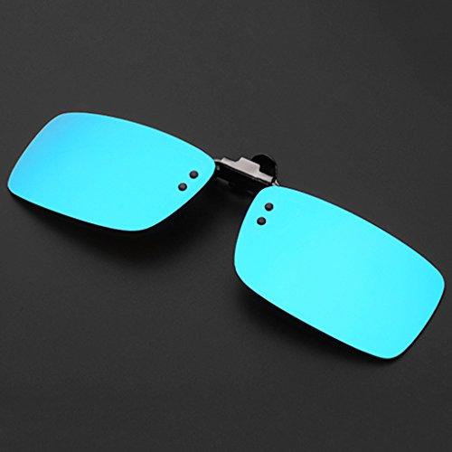 Sonnenbrillen Titanium Legierung Reflektierende Sonnenbrille Clip Farbe Film Gläser Myopie Polarisiertes Licht Schütze deine Augen ( Farbe : Blau )