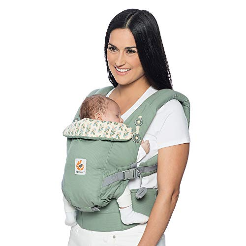 Ergobaby Baby Carrier for Newborn to Toddler, Sage Adapt 3-Position Ergonomic Child Carrier Backpack  Ergobaby
