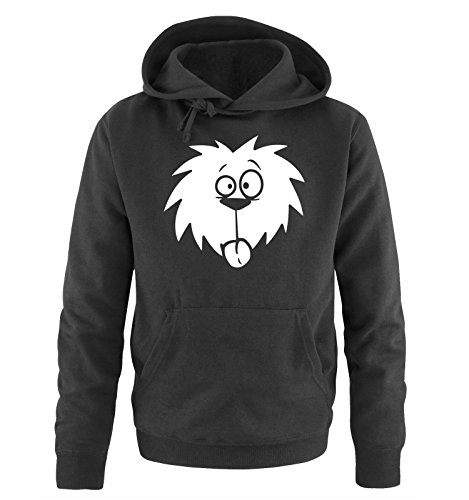 Comedy Shirts - COMIC DOG - Uomo Hoodie cappuccio sweater - taglia S-XXL different colors nero / bianco