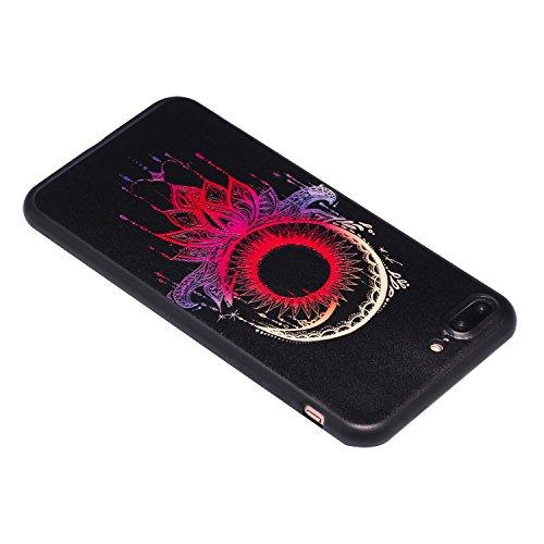 Apple iPhone 7 Plus Hülle, Voguecase Silikon Schutzhülle / Case / Cover / Hülle / TPU Gel Skin für Apple iPhone 7 Plus/iPhone 8 Plus 5.5(Halbmond) + Gratis Universal Eingabestift Bunte Campanula 04