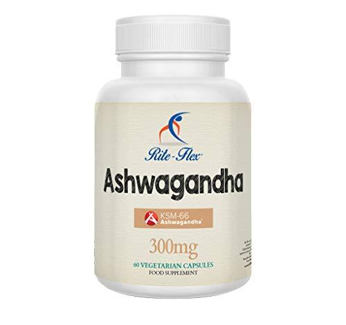 KSM-66 Ashwagandha 60 Capsule Vegetariane Vegane, Integratore Puro a base  di Erbe di Rite-Flex