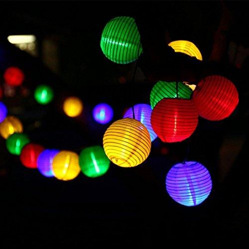 DOLDOA LED Licht,20er LED Lichterkette Kugeln für Outdoor Party, Haus, Hochzeit, Weihnachten, Erntedankfest,Feier Festakt Decor (Laternen Licht)