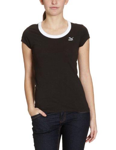 PUMA t-shirt manches courtes t7, pour femme Noir - Noir/Blanc