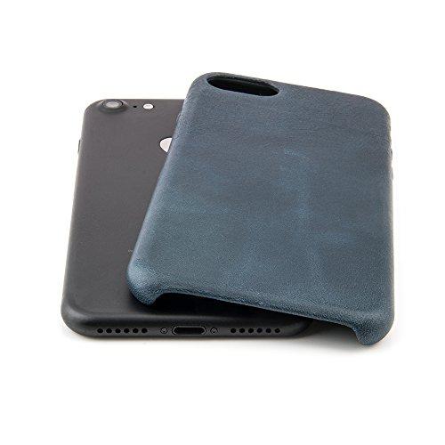"""Case für iPhone 7 (4,7"""") Thin Fit Hülle """"No.5 Leather"""" - Echt Leder Tasche für Apple iPhone 7, Schutzhülle mit Soft Feel Coating in Schwarz von QUADOCTA® - Idealer Schutz für Diamantschwarz Jet Black  Petrol"""