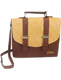 Chalissa Women's Sling Bag(Brown, Box Sling)
