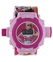 BLUE DIAMOND cute Barbie watch for kids 24 photos projector good gift for kids digital watch