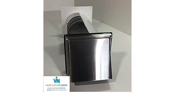 Mauerkasten dunstabzug edelstahl mm blower door test zertifikat