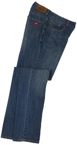 Dickies Damen Jeans mit geradem Bein - Blau - 34 Regulär - Unterschrift Herren Pullover