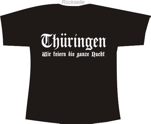 Thüringen - Wir feiern die ganze Nacht; Polo T-Shirt schwarz