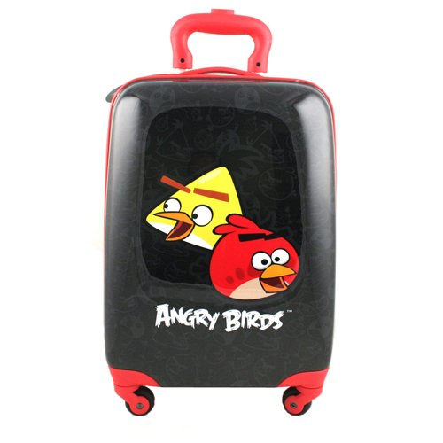 Angry Birds Hardshell Spinner Rolling Luggage Case [Black]